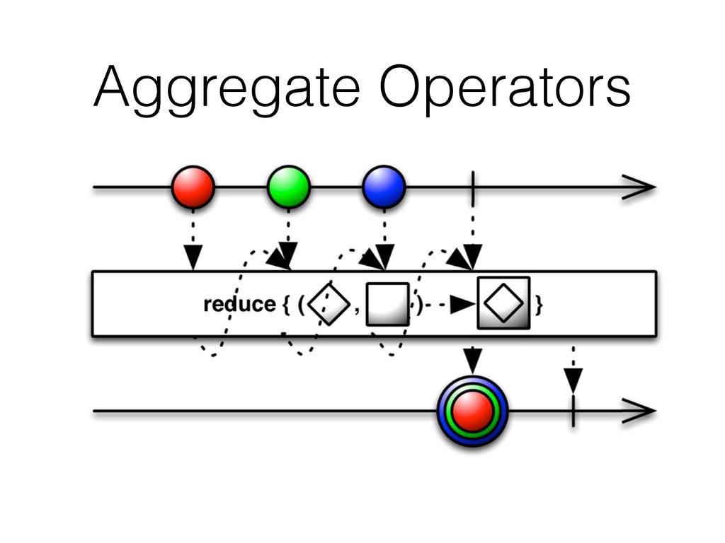 Aggregate Operators