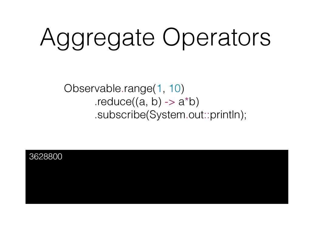 Aggregate Operators 3628800 Observable.range(1,...