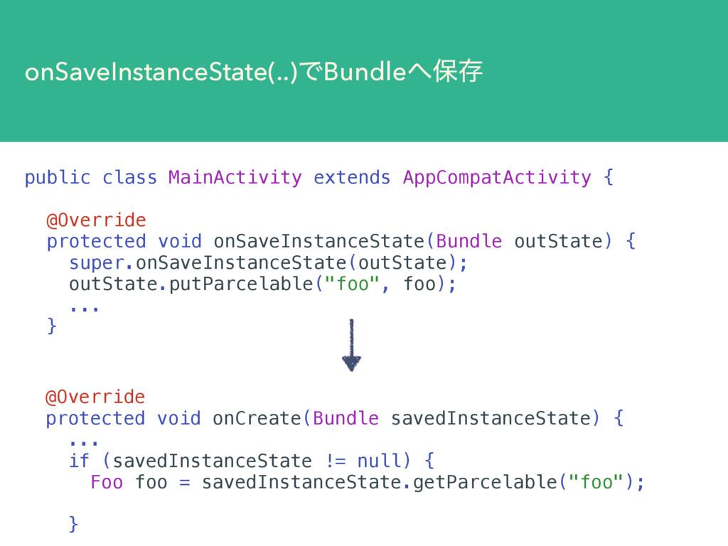 onSaveInstanceState(..)ͰBundleอଘ public class ...
