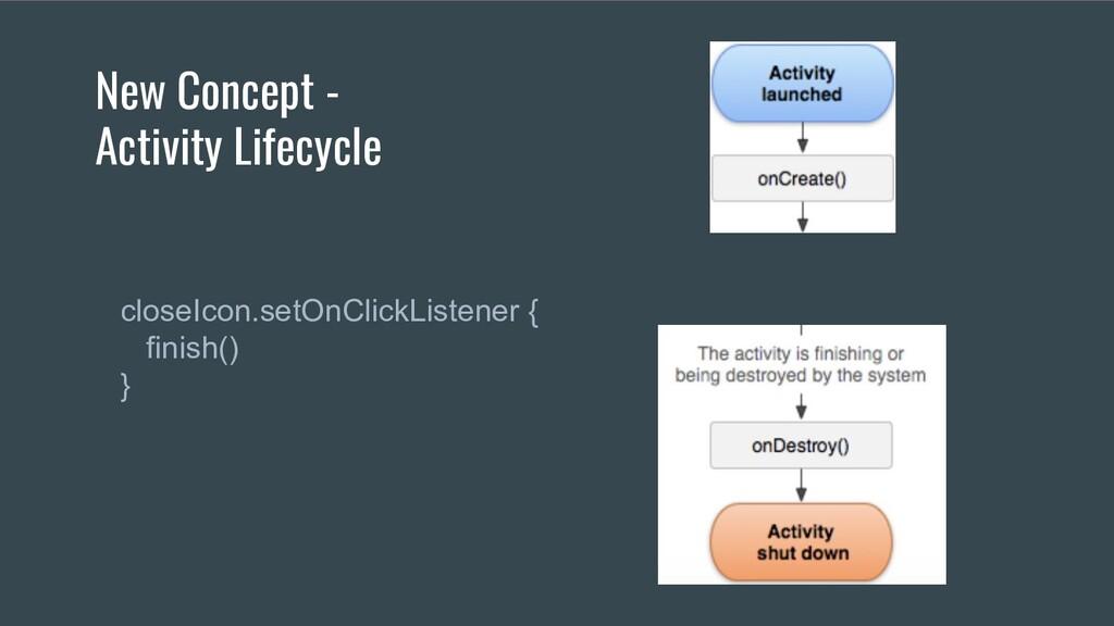 New Concept - Activity Lifecycle  closeIcon.set...