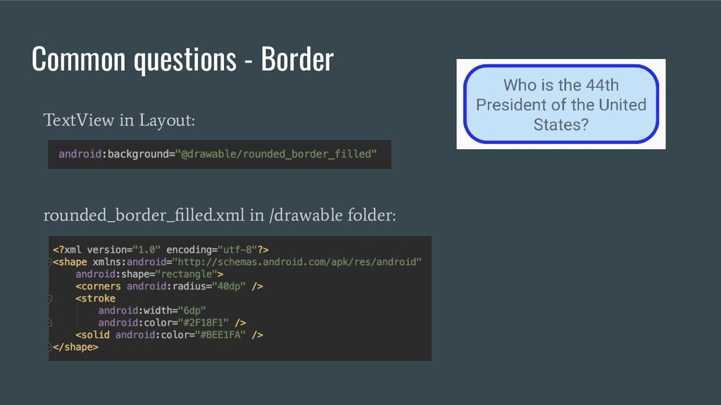 Common questions - Border rounded_border_filled....