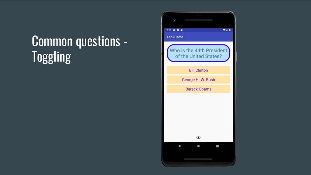 Common questions - Toggling