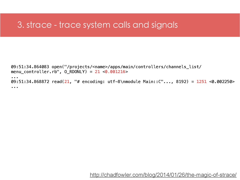 3. strace - trace system calls and signals 09:5...