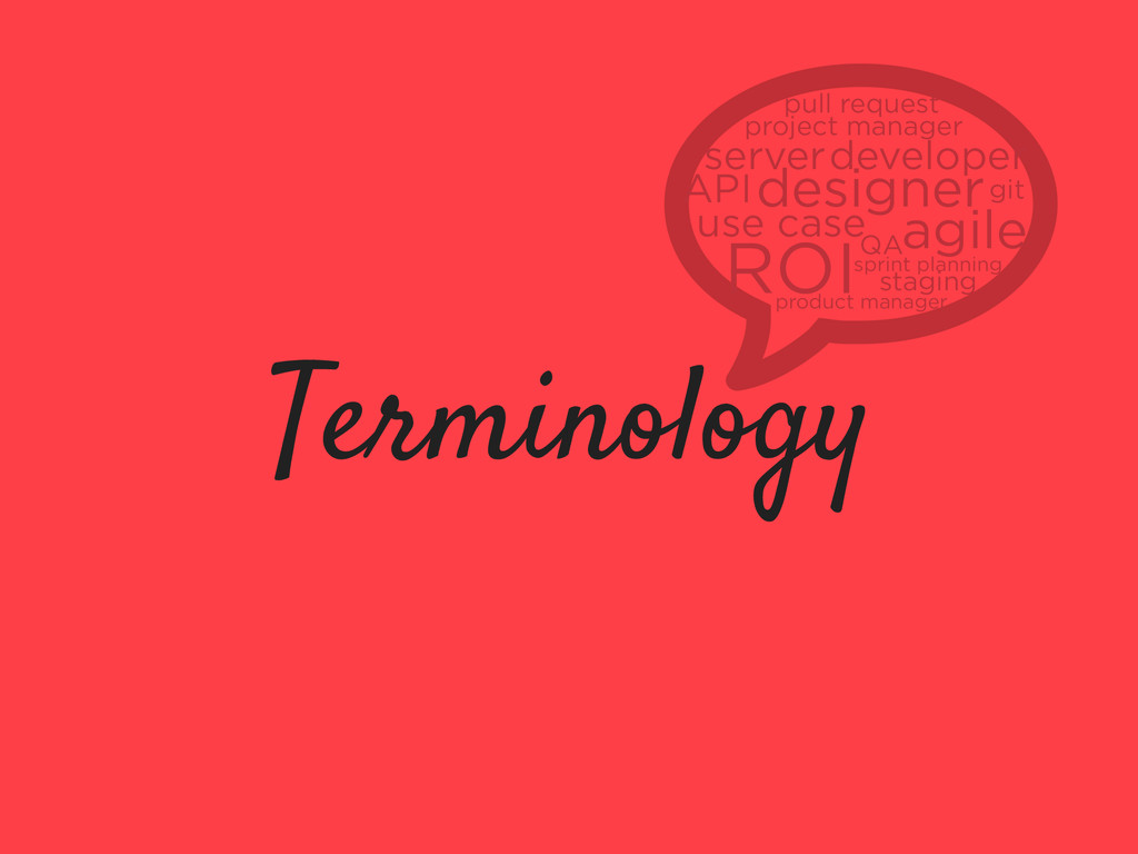 Terminology use case ROI designer developer pro...