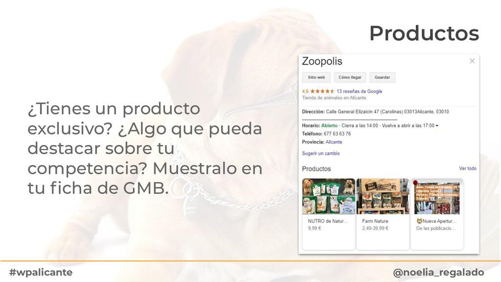 Productos ¿Tienes un producto exclusivo? ¿Algo ...