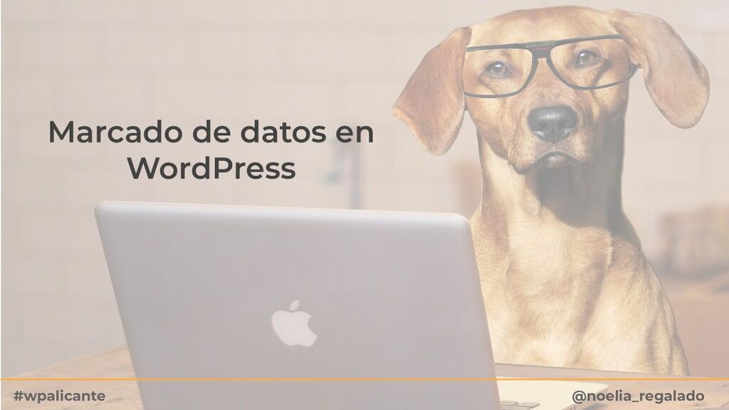 Marcado de datos en WordPress @noelia_regalado ...