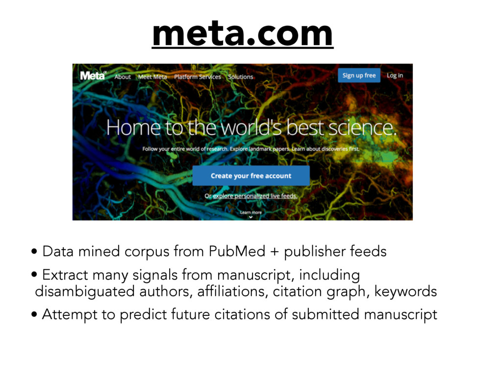meta.com • Data mined corpus from PubMed + publ...