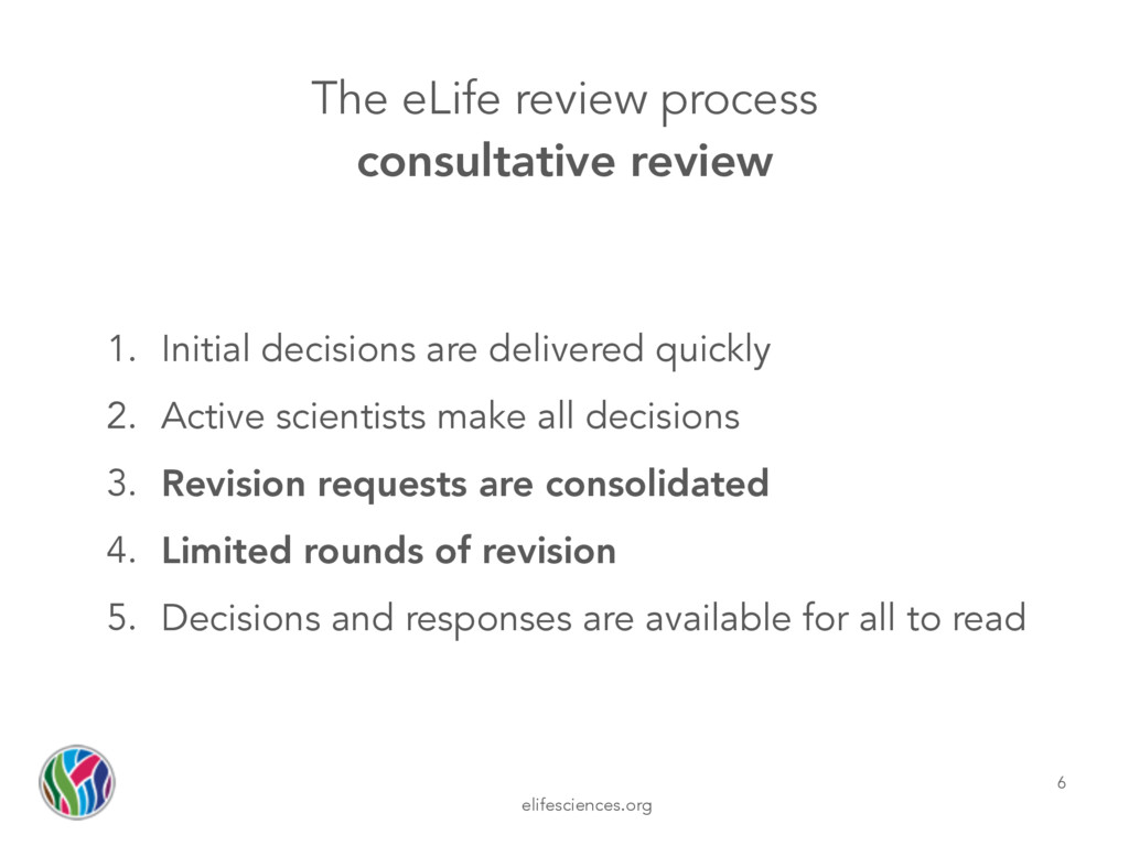 elifesciences.org The eLife review process cons...