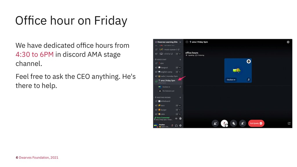 Office hour on Friday We have dedicated office ho...