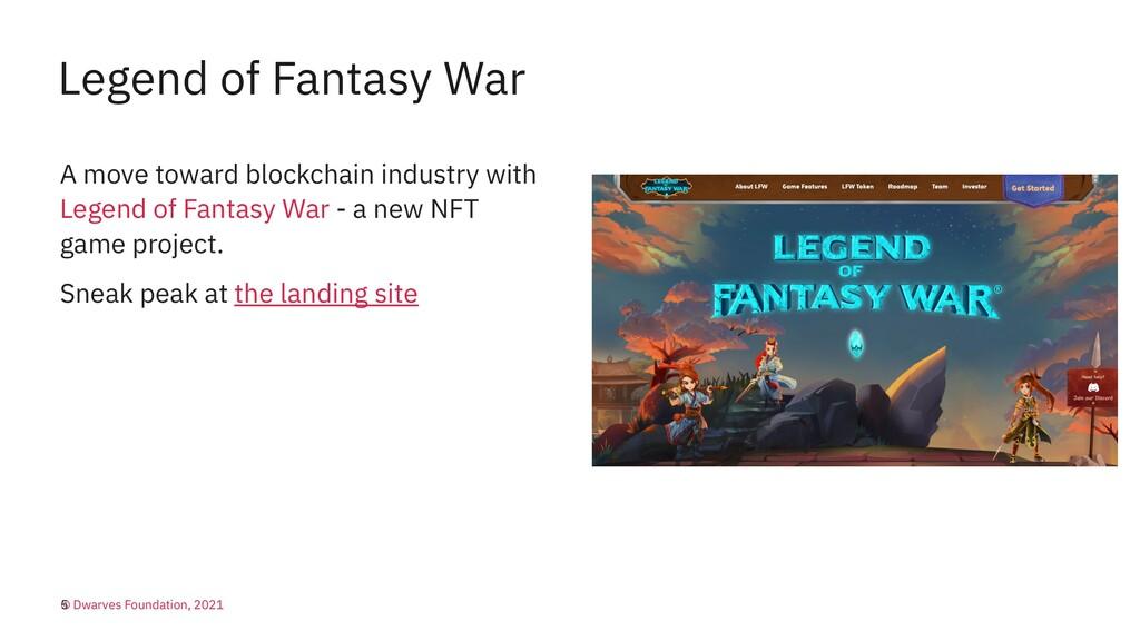 Legend of Fantasy War A move toward blockchain ...