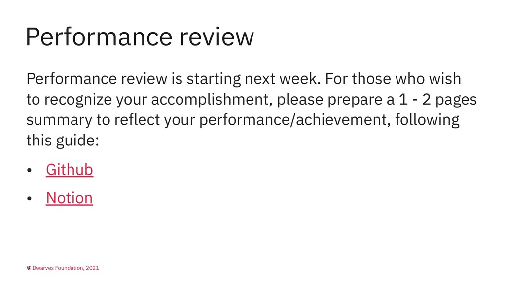 Performance review Performance review is starti...