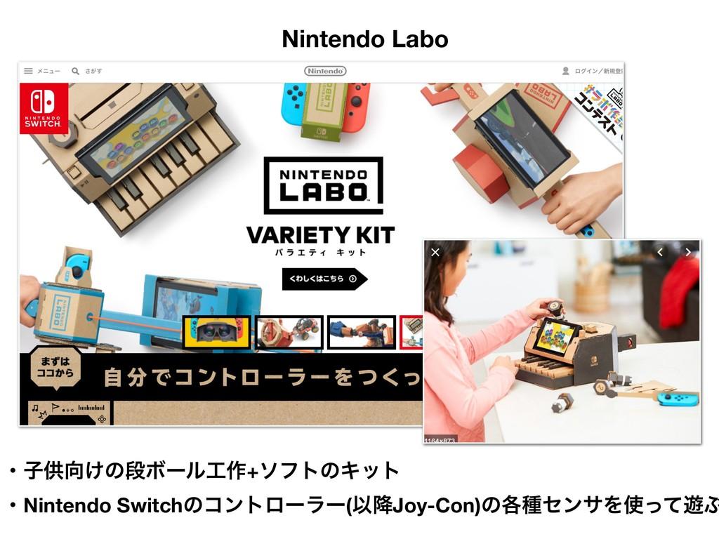 ܦӦऀݽಠͰ͋Δ Nintendo Labo ɾࢠڙ͚ͷஈϘʔϧ࡞+ιϑτͷΩοτ ɾN...