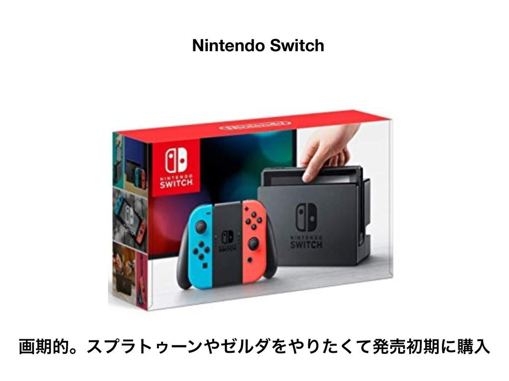 ܦӦऀݽಠͰ͋Δ Nintendo Switch ըظతɻεϓϥτΡʔϯθϧμΛΓͨͯ͘...