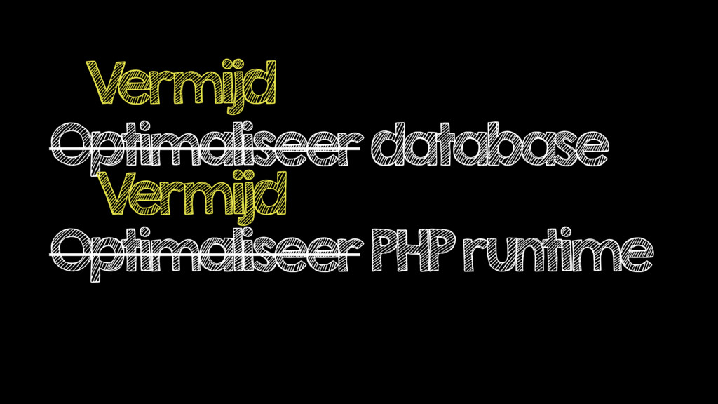Optimaliseer database Optimaliseer PHP runtime ...