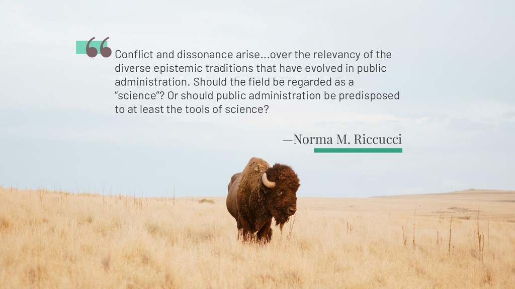 —Norma M. Riccucci Conflict and dissonance aris...