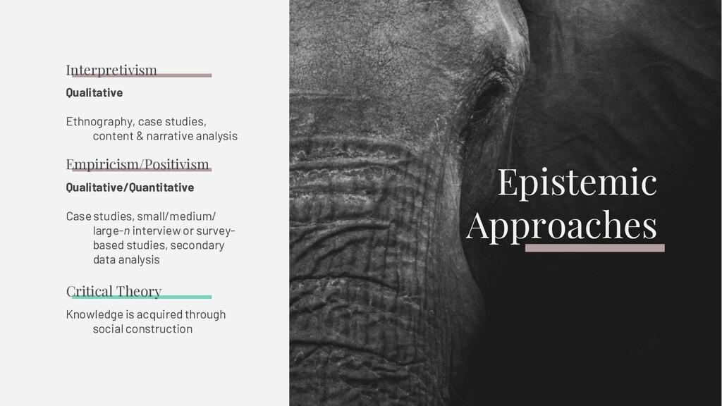 Qualitative Ethnography, case studies, content ...