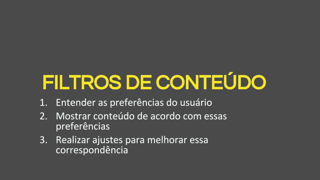 FILTROS DE CONTEÚDO
