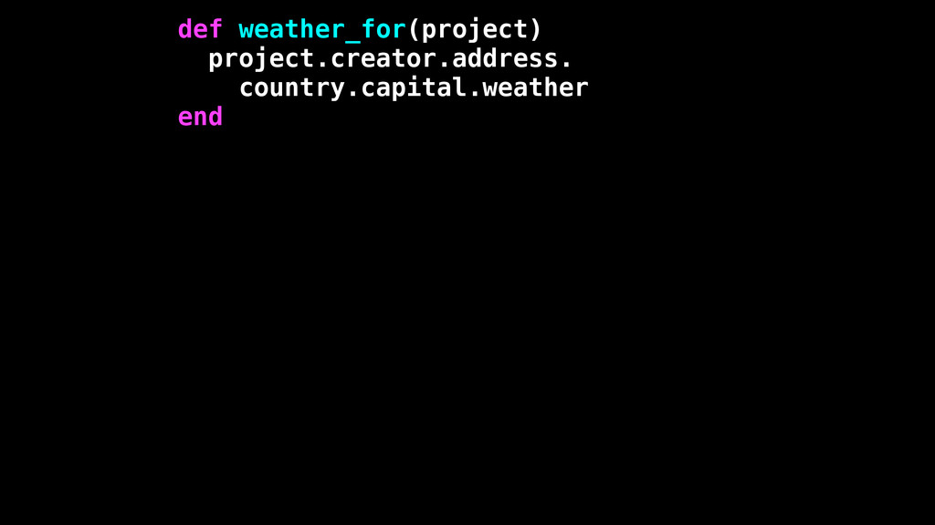 def weather_for(project) project.creator.addres...
