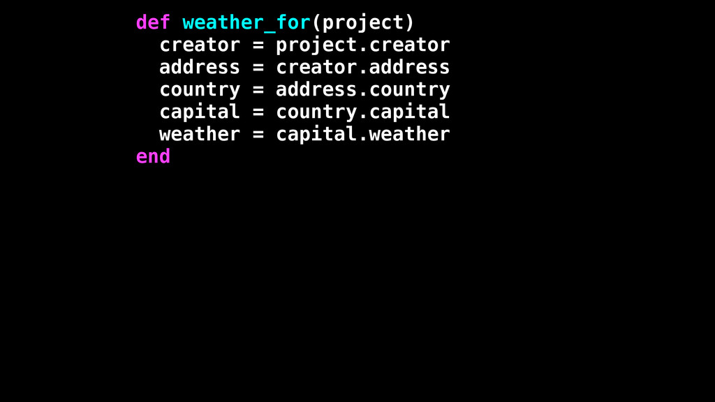def weather_for(project) creator = project.crea...