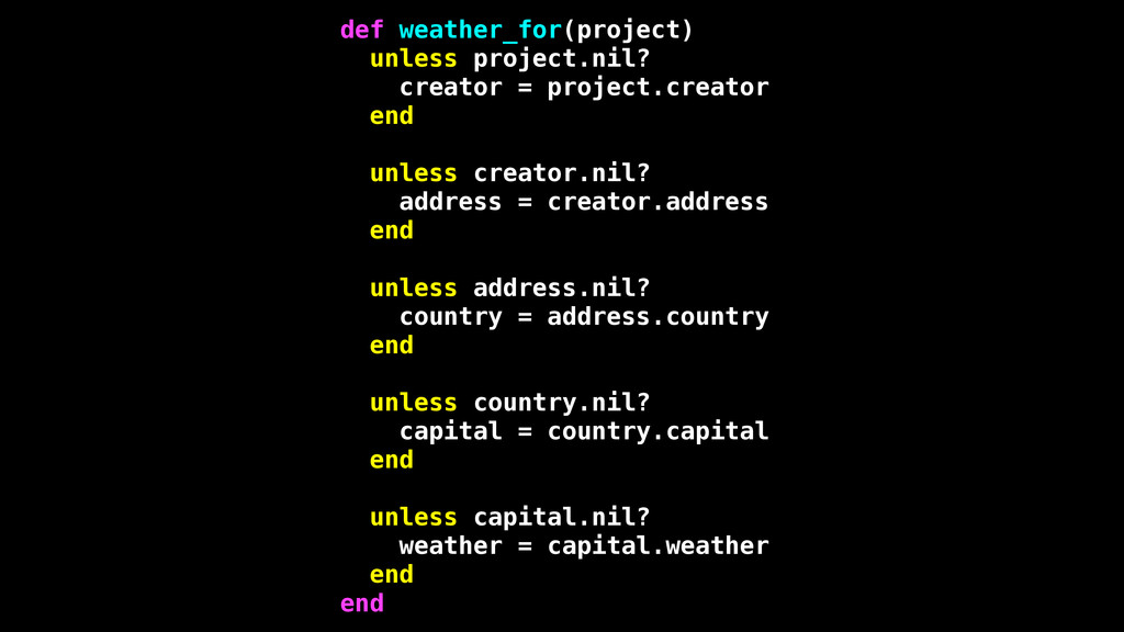 def weather_for(project) unless project.nil? cr...