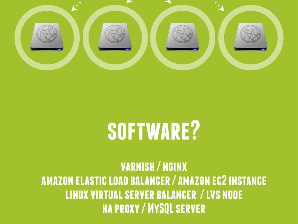 software? varnish / nginx amazon elastic load b...