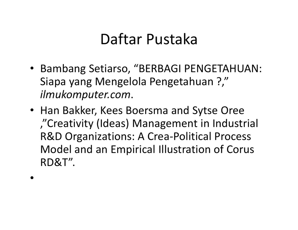 """Daftar Pustaka • Bambang Setiarso, """"BERBAGI PEN..."""