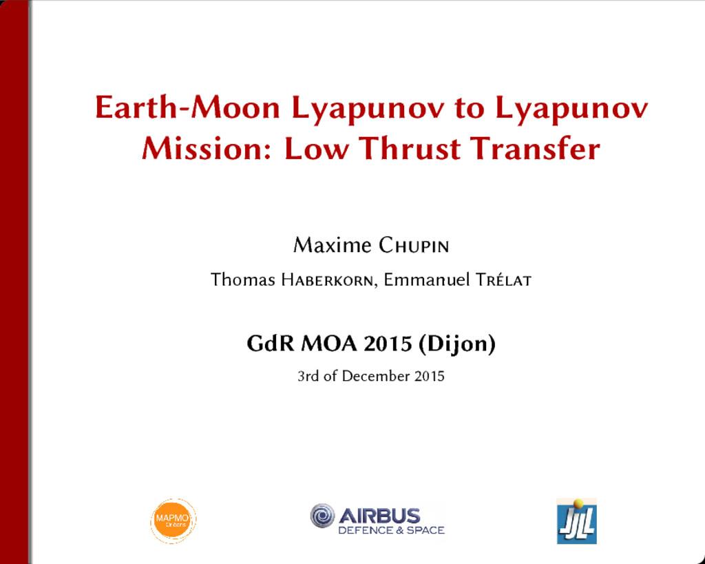 Earth-Moon Lyapunov to Lyapunov Mission: Low Th...