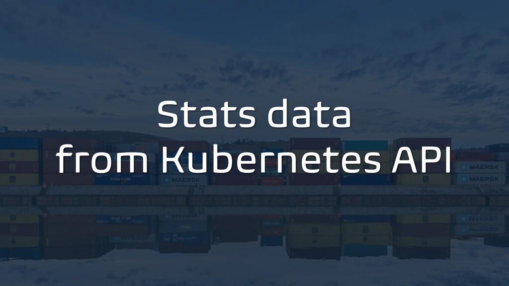 Stats data from Kubernetes API