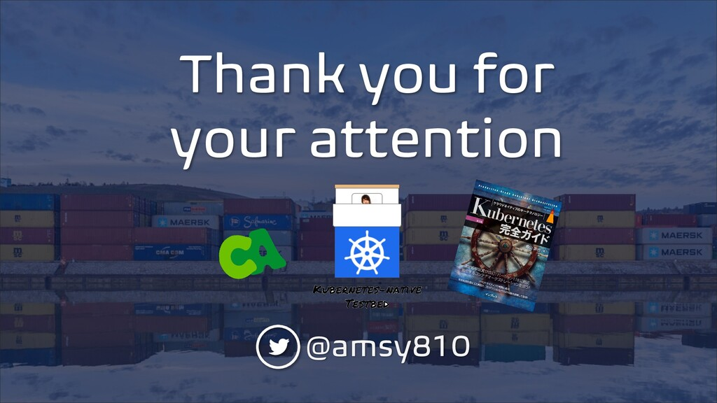 Thank you for your attention @amsy810
