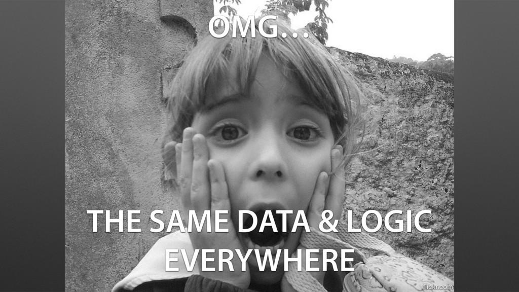 OMG… THE SAME DATA & LOGIC EVERYWHERE flickr.com