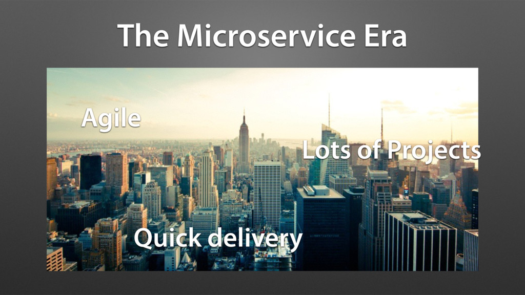 The Microservice Era Agile Lots of Projects Qui...