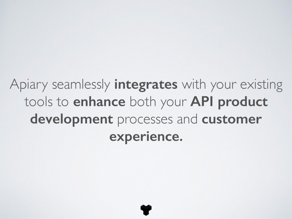 Apiary seamlessly integrates with your existing...