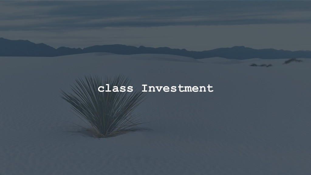 class Investment