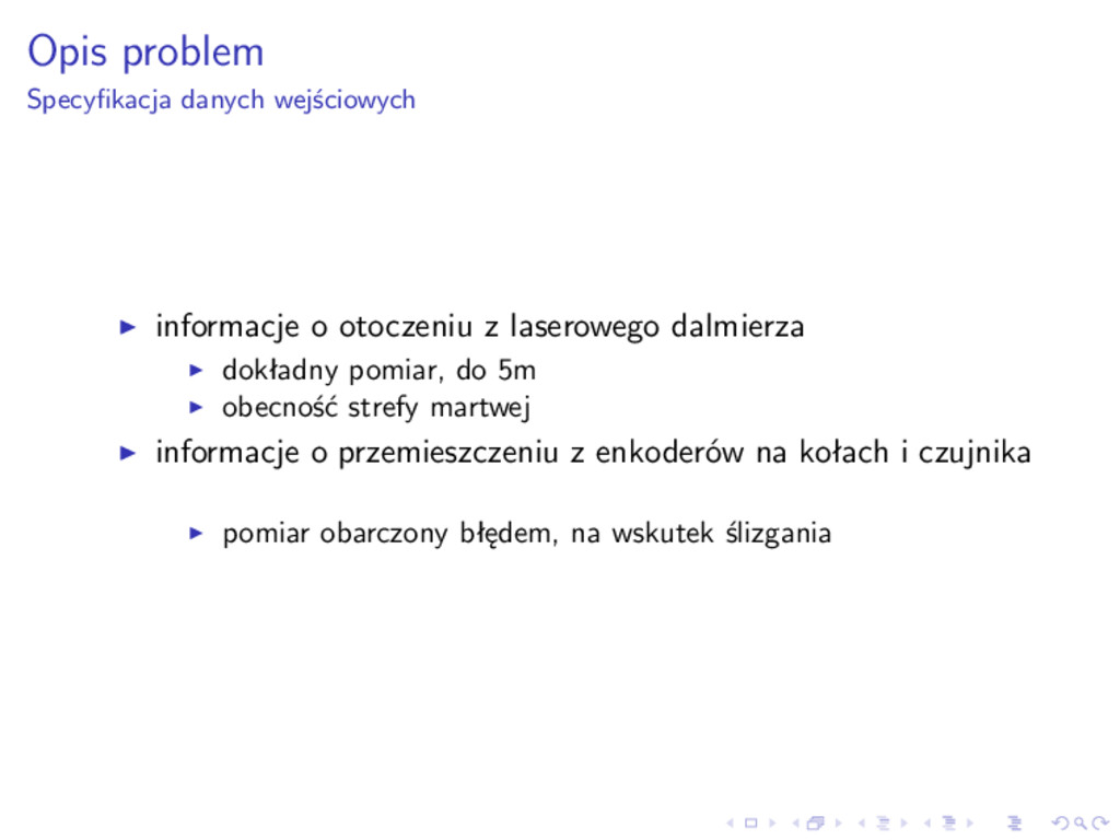 Opis problem Specyfikacja danych wejściowych inf...