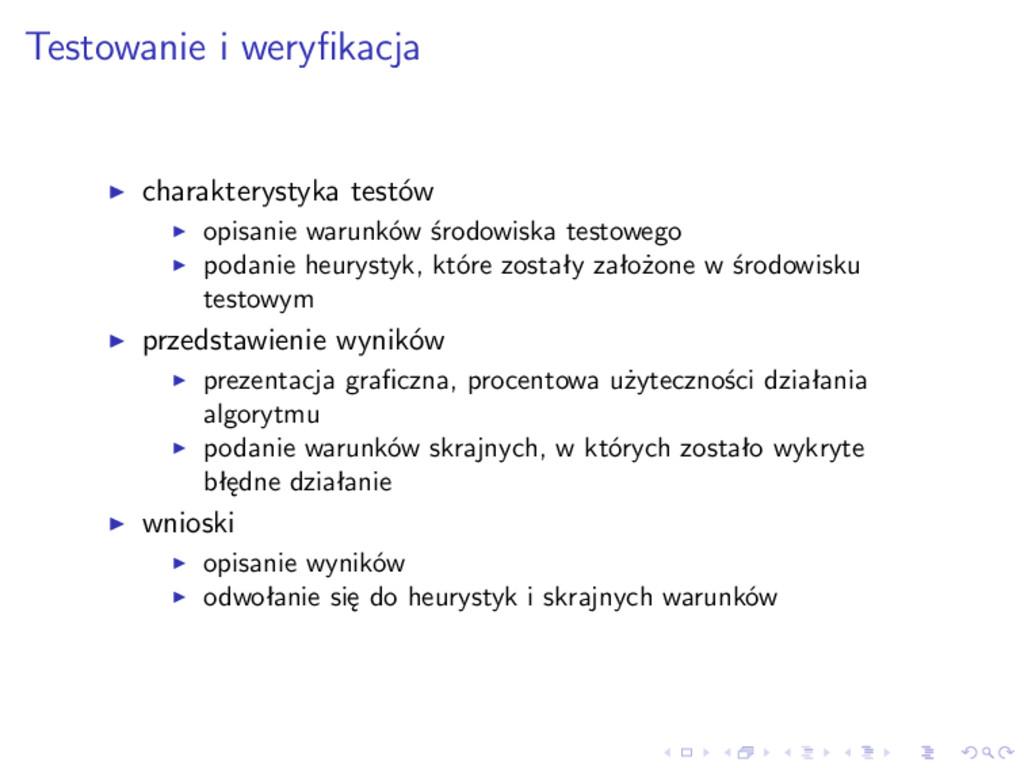 Testowanie i weryfikacja charakterystyka testów ...