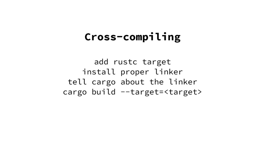 Cross-compiling add rustc target install proper...