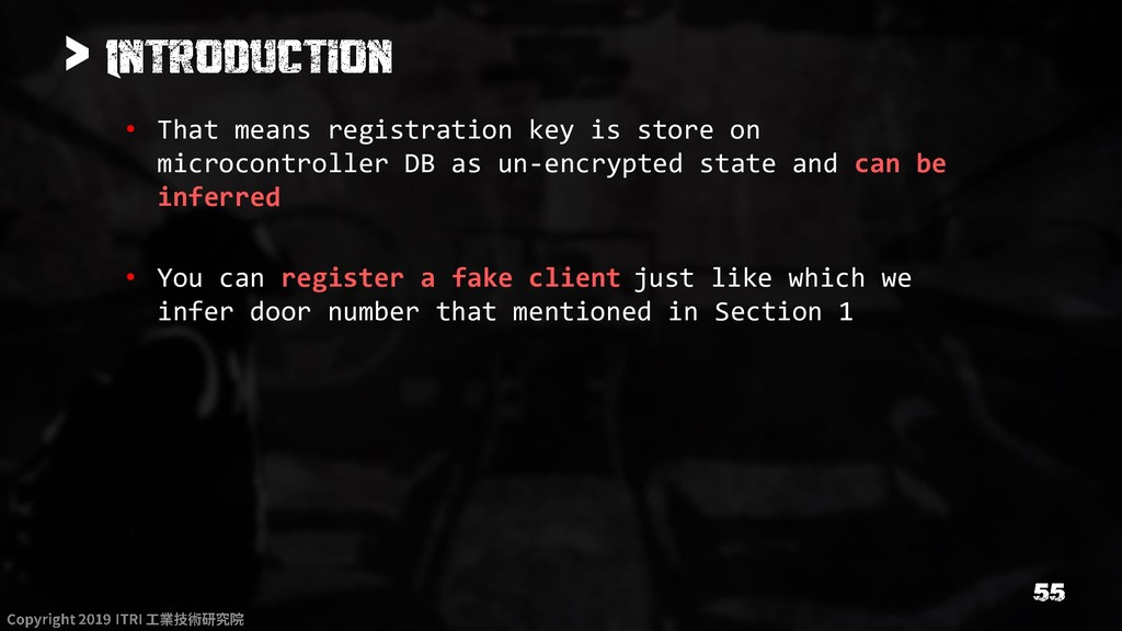 > • That means registration key is store on mic...