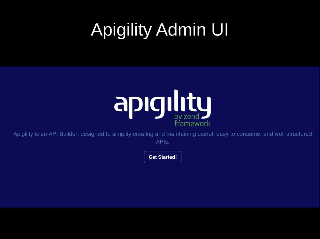 Apigility Admin UI