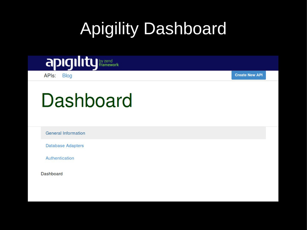 Apigility Dashboard