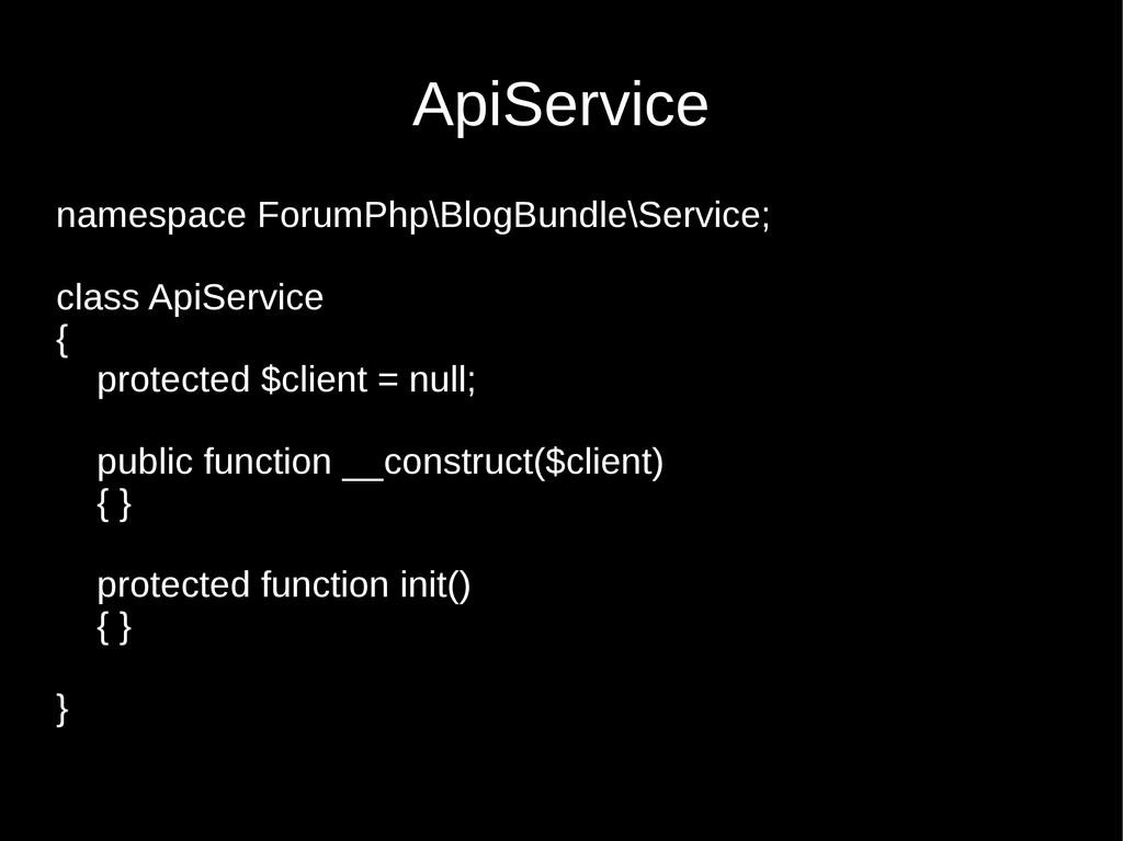 namespace ForumPhp\BlogBundle\Service; class Ap...