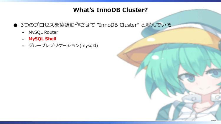 "What's InnoDB Cluster? 3つのプロセスを協調動作させて ""InnoDB ..."