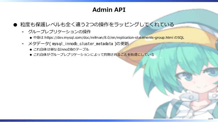 Admin API 粒度も保護レベルも全く違う2つの操作をラッピングしてくれている グループレ...