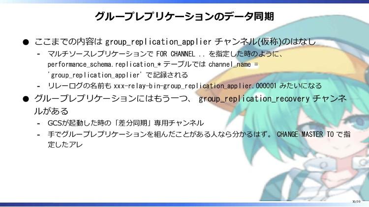 グループレプリケーションのデータ同期 ここまでの内容は group_replication_a...