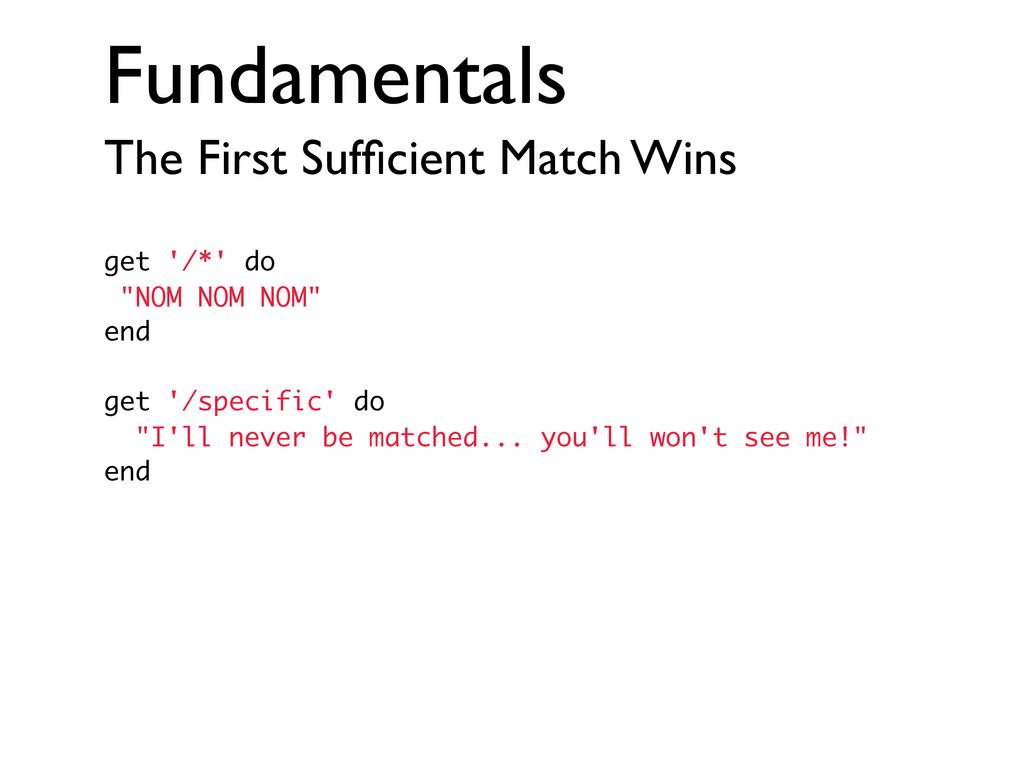 Fundamentals The First Sufficient Match Wins get...