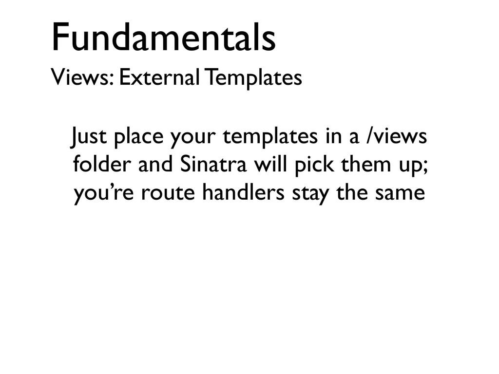 Fundamentals Views: External Templates Just pla...