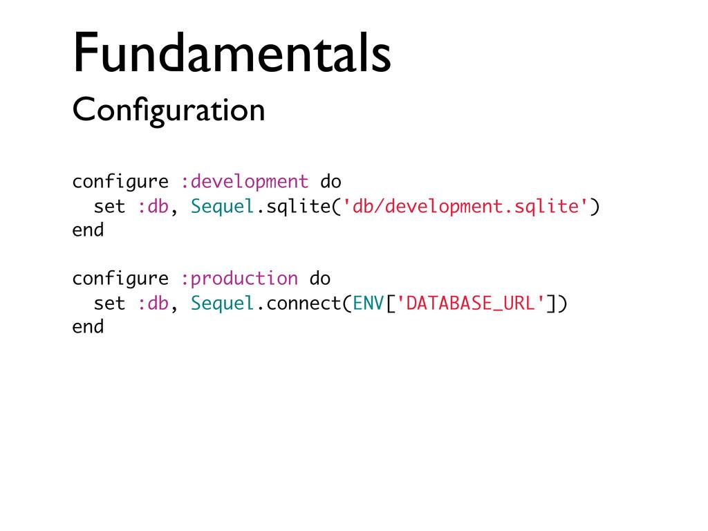 Fundamentals Configuration configure :developmen...