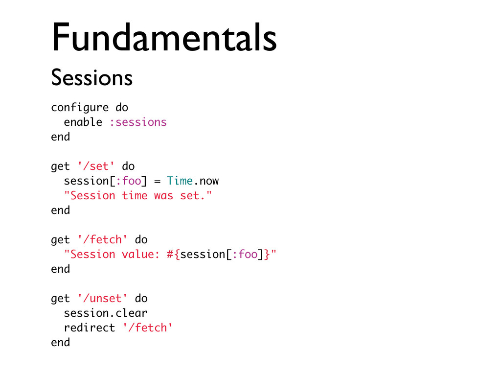 Fundamentals Sessions configure do enable :sess...