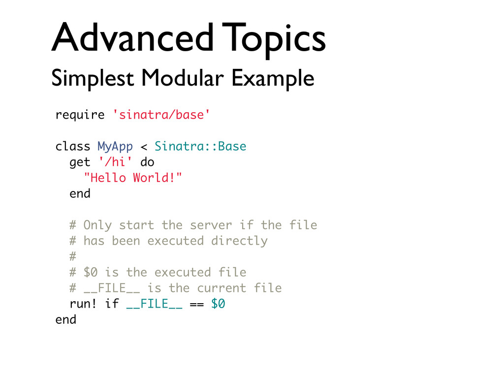 Advanced Topics Simplest Modular Example requir...