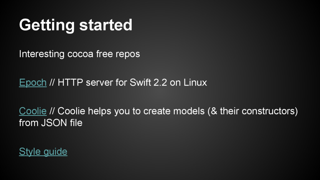 Getting started Interesting cocoa free repos Ep...