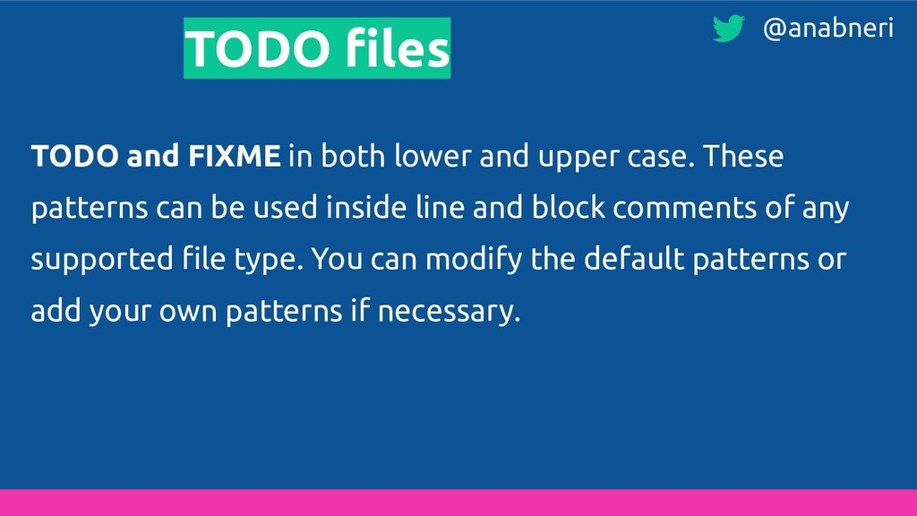 TODO files TODO and FIXME in both lower and uppe...